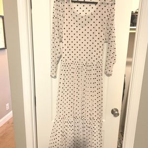 Midi polka dot dress